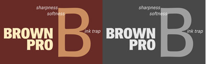 Brown Pro' a revised version of Brown' by Nick Shinn. Brown Pro Family is 80% off until April 21.