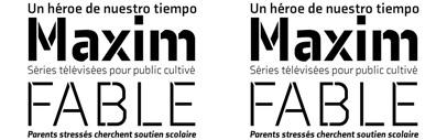 Axia' a contemporary sans with 4 weights/italics and two stencil weights' by Kontour