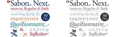 83% off on the selection of Sabon Next Regular' Sabon Next Italic' and Sabon Next Display for 14 hours only!