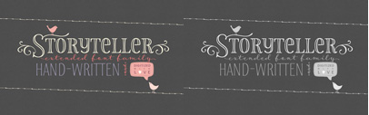 New Storyteller' a hand-drawn font family