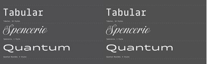 Tabular' Spencerio & Quantum Rounded by @itfoundry