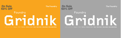 Foundry Gridnik Family is 50% off until May 19.