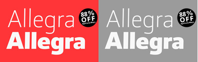 Allegra by abc litera is 88% off until May 5.