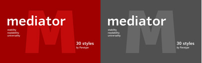 Mediator by @ParaTypeNews. $5 per style until May 4.