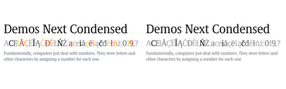 Condensed styles were added to Demos Next. The Demos Next Complete Family is $199 until June 17.