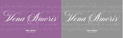 Delve Fonts released Vena Amoris by Kathryn Podorsky.