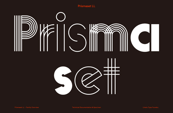 Font News [New Font Release] LL Prismaset comes with 10 styles