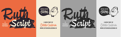 Ruth Script by Estudio Calderon. 59% off until July 19.