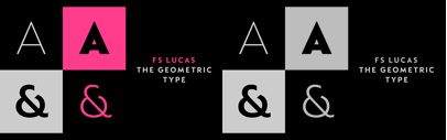@Fontsmith released FS Lucas' a geometric sans serif.