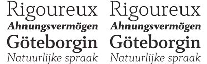 Cultura New: expanded and improved version of DSType's serif