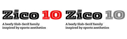 @typotheque released Zico by @markhrast.
