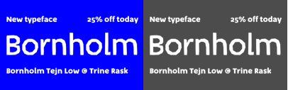 Bornholm Tejn Low' the lowercase variant of Bornholm Tejn' by @TrineRask. 25% off until July 3.