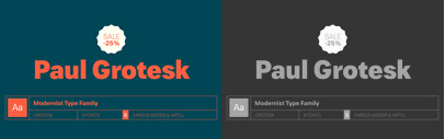 Paul Grotesk by artill. 25% off until Aug 12.