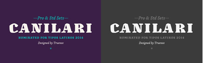 @Latinotype released Canilari by Patricio Truenos.