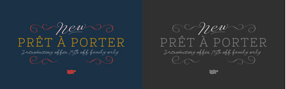@Latinotype released Prêt-à-porter. Prêt-à-porter Complete Family is 79% off until Sep 7.