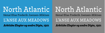 @monokromfonts released Nordvest designed by @ninastoessinger.