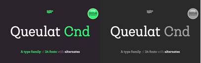 Queulat Cnd by @Latinotype. Queulat Cnd Complete Family is 90% OFF until Oct 21.