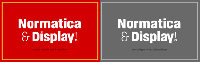 Normatica & Normatica Display by Carnoky Type. 80% off until Oct 22.