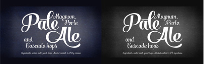Salamander by Fenotype: an upright script typeface with swashes.