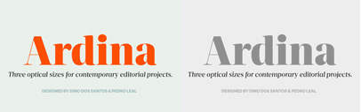 Ardina Display' Title and Text by @DSType_Foundry