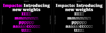 A2-Type's web site was updated. New styles of Impacto and Monday' and New Grotesk Round are available.