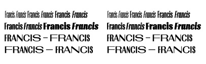 @typotheque released Francis and Francis Gradient.