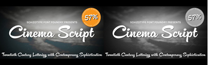 Cinema Script by @SchizotypeFonts. 57% off until Oct 31.
