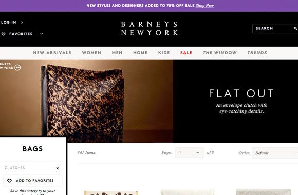 Font News Font ID: Barneys New York website uses Brown web font by