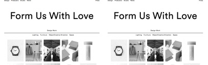 Font ID: What's the web font does Form Us With Love use? It's Circular by Laurenz Brunner. The typeface might be released by Lineto in the future.