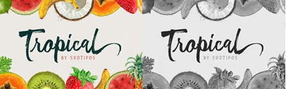 @sudtipos released Tropical' designed by Joluvian and digitized by Ale Paul. 50% off until Feb 18.