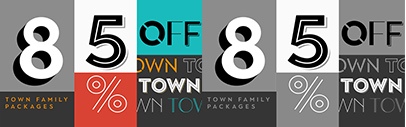 Town comes with 124 styles. 85% off until March 2.