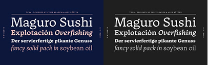 Tuna by Felix Braden & Alex Rütten. 50% off until Feb 24. The Medium and Medium Italic are free of charge.