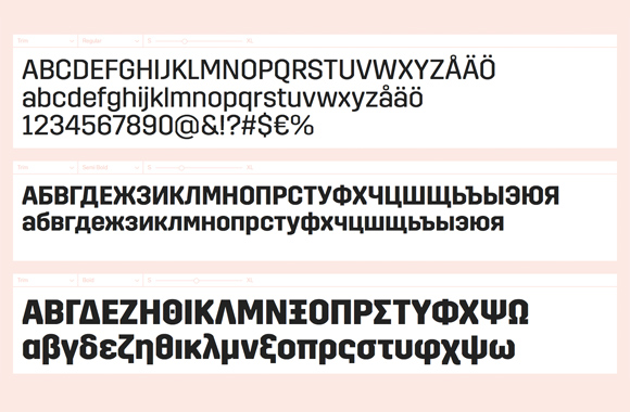 Font News [New Font Release] Trim also supports Cyrillic and Greek now