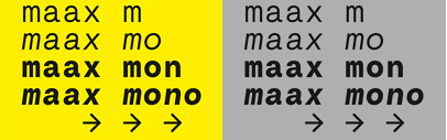 Maax Mono' a monospaced grotesque' by Editions Deux-Cent-Cinq