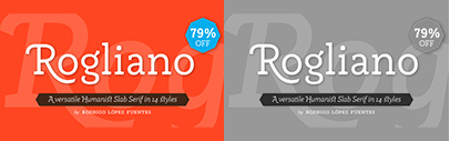 @Tipotype released Rogliano. 79% off until March 5.