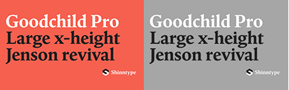 Shinn Type released Goodchild Pro.