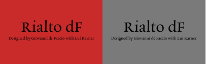 Cast released Rialto dF designed by Giovanni de Faccio with Lui Karner.