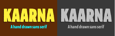Kaarna' a rough hand drawn sans serif' by Teo Tuominen