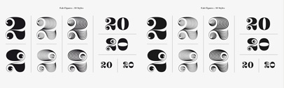 Fab Figures' a numbers-only typeface
