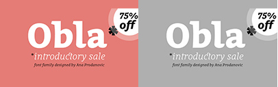 Obla' a serif typeface family supporting Cyriilic' by Ana Prodanovic. 75% off until March 15.