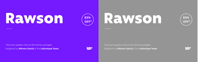 @Latinotype released Rawson. 83% off until April 22.