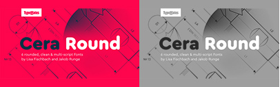 @TypeMatesFonts released Cera Round Pro. (This is the official release' though we mentioned it 3 months ago.) Introductory offer 50% off.