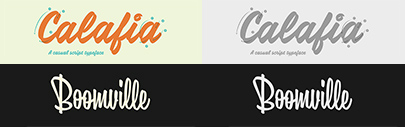 Calafia and Boomville are available at Lost Type Co-op.