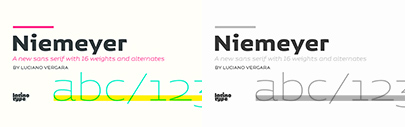 @Latinotype released Niemeyer. Niemeyer Family is 80% off until May 4.