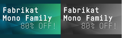 Fabrikat Mono by @koeberlin. Fabrikat Mono Complete is 80% off until May 12.