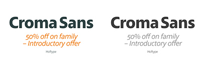 Croma Sans by Hoftype. Croma Sans Complete is 50% off until May 14.