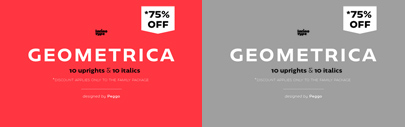 @Latinotype released Geometrica. Geometrica Family is 75% off until May 19.