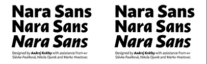 Nara Sans' a Dynamic Sans with Two Italics