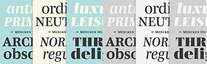 @typofonderie released Mencken Head' Mencken' and Mencken Text.