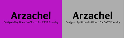 @castfoundry released Arzachel designed by Riccardo Olocco.